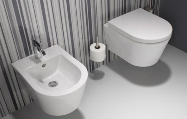 SanIndusa WC suspendu design et bidet
