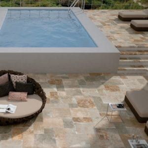 Carrelage imitation pierre Century PANTHEON - coloris VENUS 50x50, 25x50, 25x25 Grip