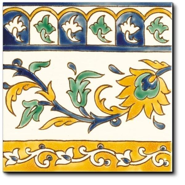 Frise carrelage méditerranéen DOREMAIL - frise KINZ ARTISANAL 20x20cm