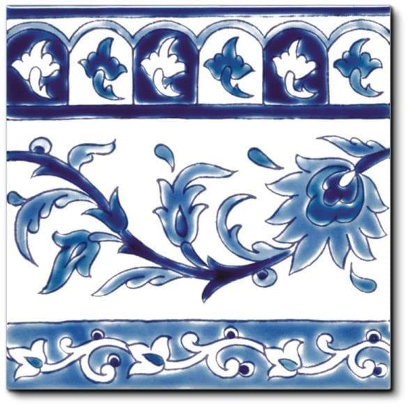Carrelage frise méditerranéen DOREMAIL - frise KINZ BLEU 20x20 cm