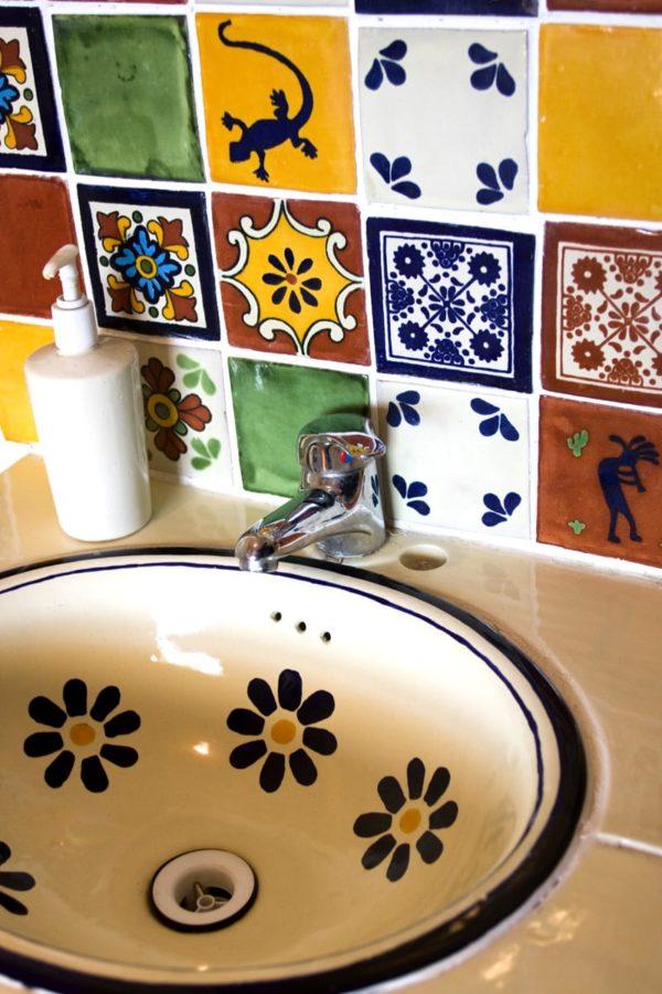Carrelage mexicain Colibri Azulejos - réalisation salle de bain