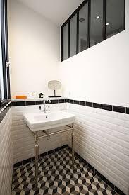 Réalisation en carrelage Metro blanc - carreaux 7.5x15 cm