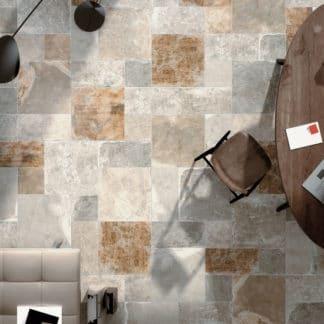 Carrelage imitation pierre Century PANTHEON - coloris VENUS 50x50, 25x50, 25x25cm