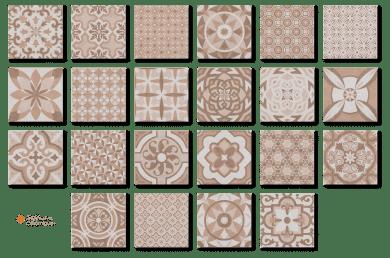 Carrelage VINTAGE beige Diffusion Céramique en grès cérame imitation carreaux de ciment