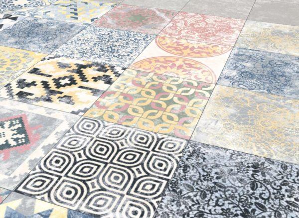 Carrelage imitation carreaux de ciment - Codicer PERSEO MIX Patchwork