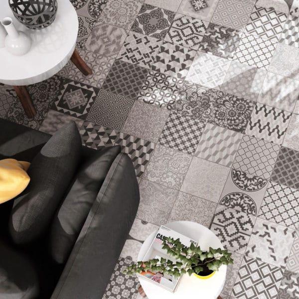 Carrelage patchwork Codicer ATENAS mix - grès cérame imitation carreaux de ciment