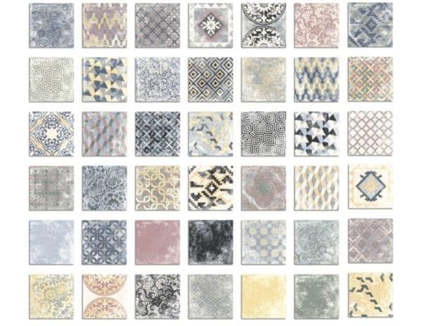 Carrelage imitation ciment en grès Cérame Diffusion Céramique - Patchwork Perseo