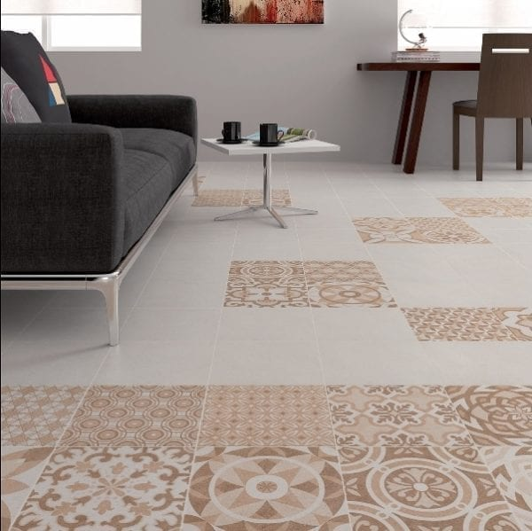 Carrelage patchwork VINTAGE Diffusion Céramique en grès cérame imitation carreaux de ciment