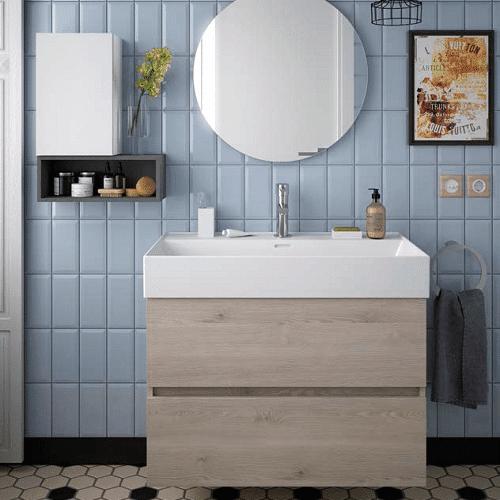 Salgar FUSSION LINE - Meuble de salle de bain 80cm - CHENE NATUREL