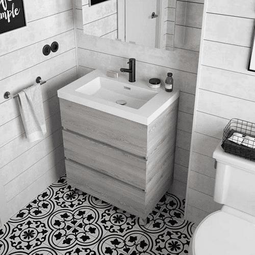Salgar FUSSION LINE - Meuble salle de bain 700 3 tiroirs - PIN BAHIA