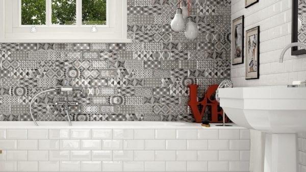 Carrelage métro blanc salle de bain