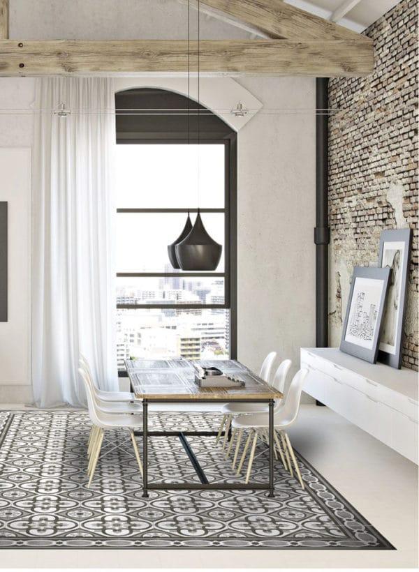 Carreaux de ciment noir et blanc - Nanda Cementum - motifs BLACK & WHITE & Uni