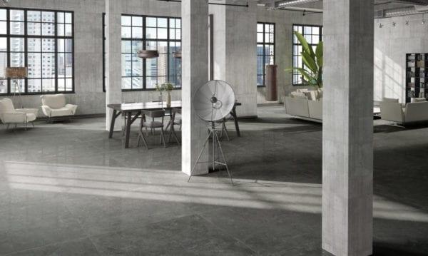 Century GLAM carrelage imitation pierre - coloris ANTHRACITE - 120x120cm
