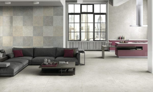 Century GLAM carrelage imitation pierre - coloris BIANCO - 60x60cm