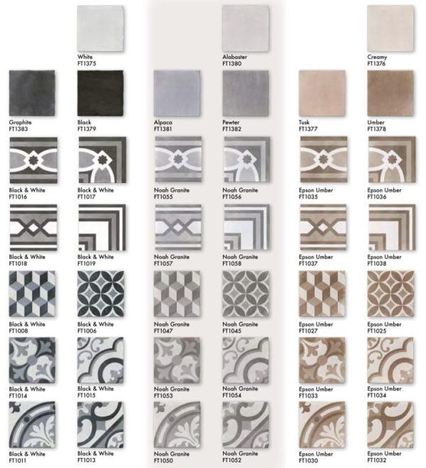 Carreaux de ciment - Nanda Cementum - imitation en grès cérame