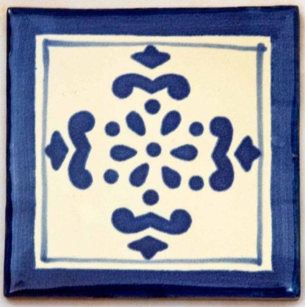 Carrelage mexicain Colibri Azulejos - ANITA BLEU / BLANC
