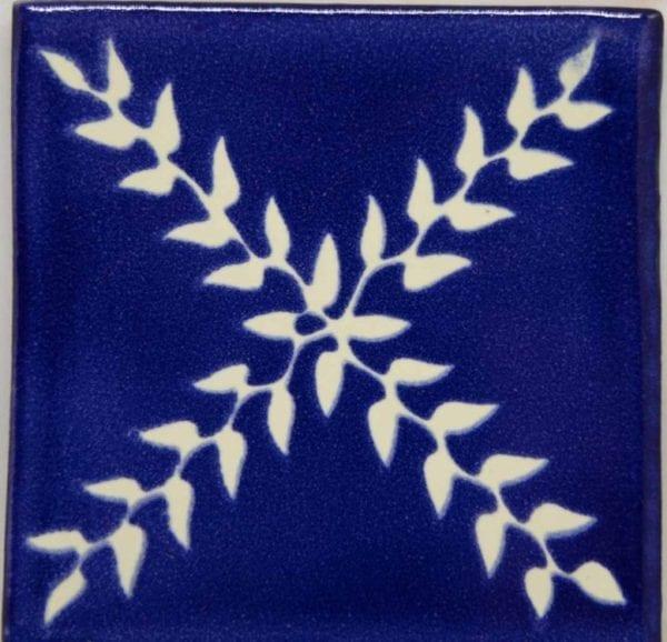 Carrelage mexicain Colibri Azulejos - ARBOR BLANC / BLEU