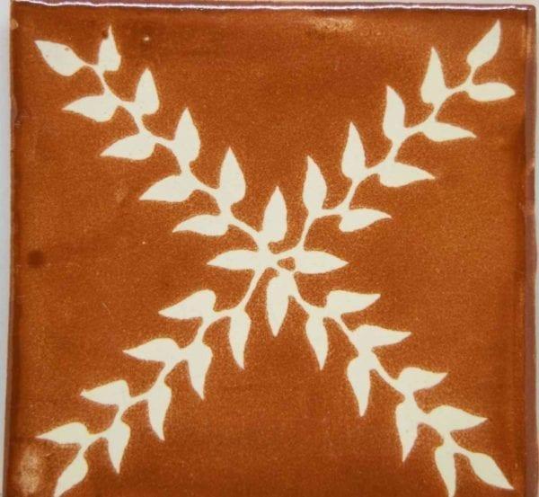 Carrelage mexicain Colibri Azulejos - ARBOR BLANC / CHAMOIS