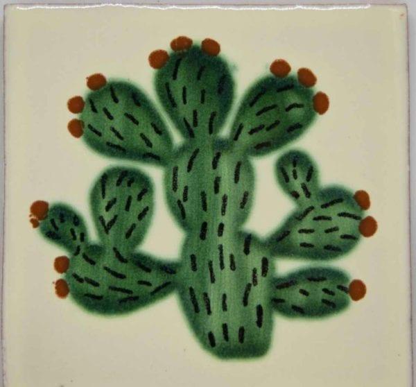 Carrelage mexicain Colibri Azulejos - CACTUS