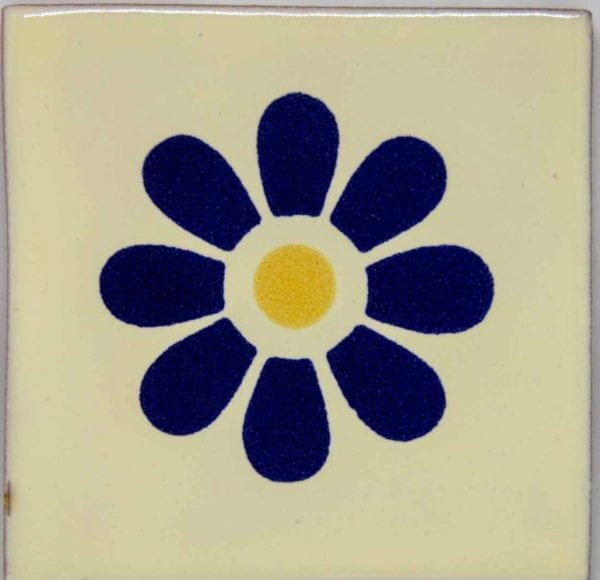 Carrelage mexicain Colibri Azulejos - DAISY BLEU