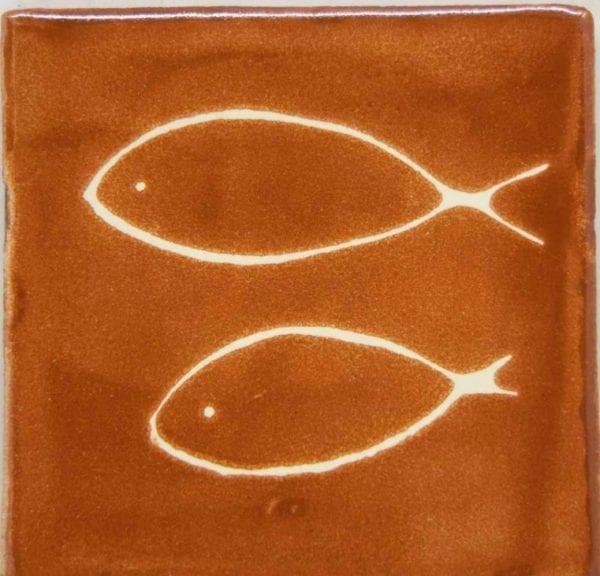 Carrelage mexicain Colibri Azulejos - FISH BLANC / CHAMOIS