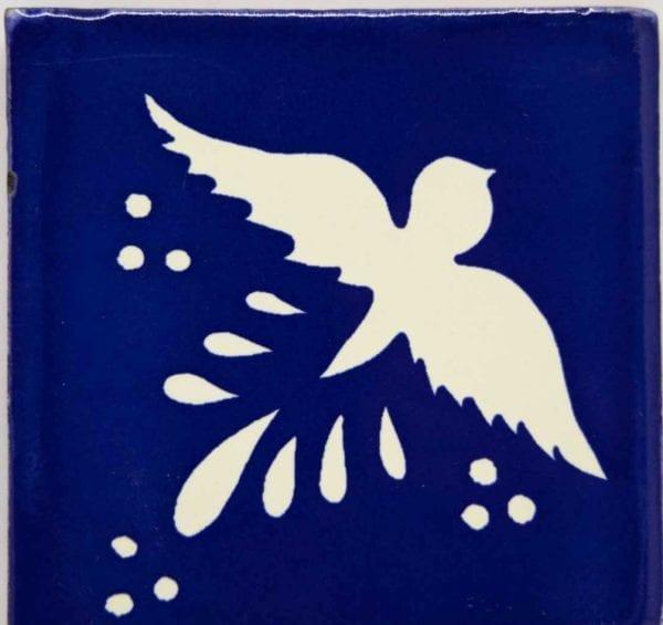 Carrelage mexicain Colibri Azulejos - FLIGHT BLANC / BLEU