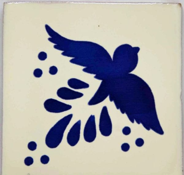 Carrelage Mexicain Colibri Azulejos - Flight Bleu / Blanc