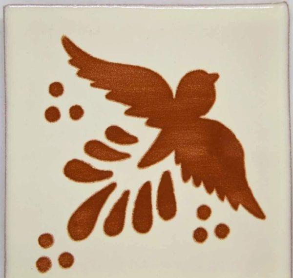 Carrelage mexicain Colibri Azulejos - FLIGHT CHAMOIS / BLANC