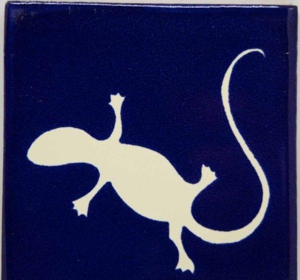 Carrelage mexicain Colibri Azulejos - IGUANA BLANC / BLEU