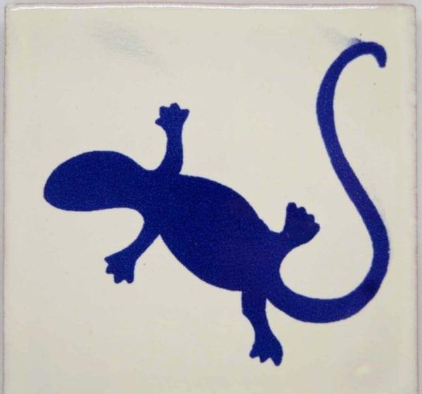 Carrelage mexicain Colibri Azulejos - IGUANA BLEU / BANC
