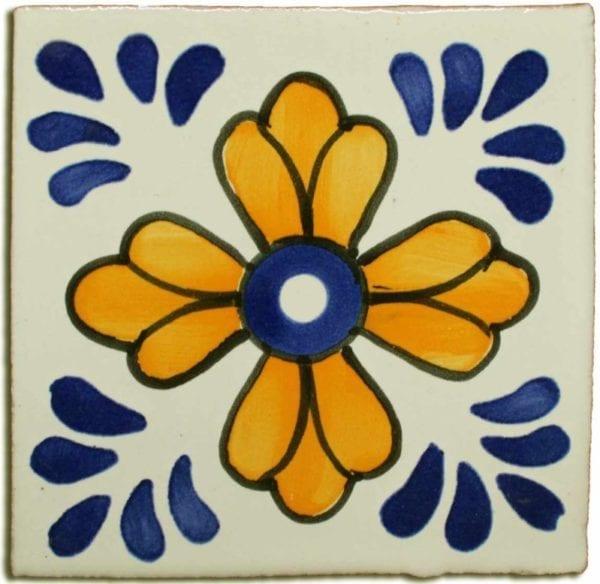 Carrelage mexicain Colibri Azulejos - SAN CRISTOBAL BLEU