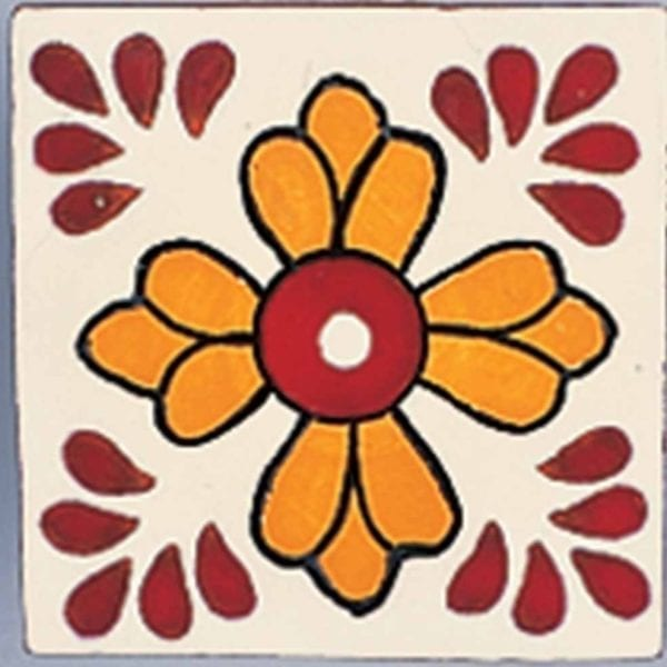 Carrelage mexicain Colibri Azulejos - SAN CRISTOBAL ROUGE