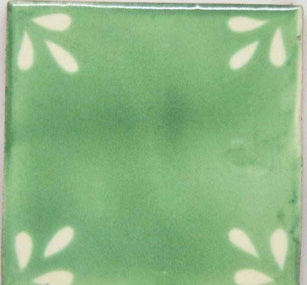 Carrelage mexicain Colibri Azulejos - SEVILLE BLANC VERT