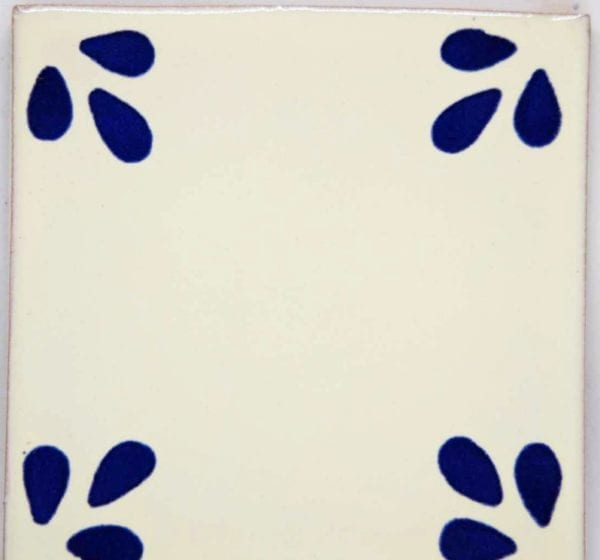 Carrelage mexicain Colibri Azulejos - SEVILLE BLEU BLANC