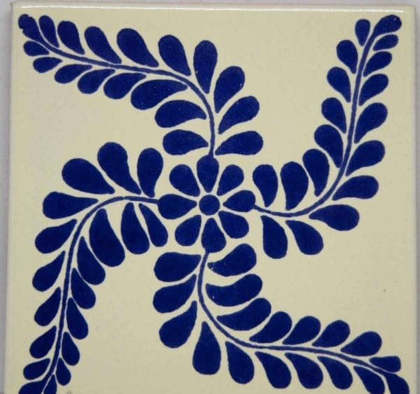 Carrelage mexicain Colibri Azulejos - TULUM BLEU BLANC