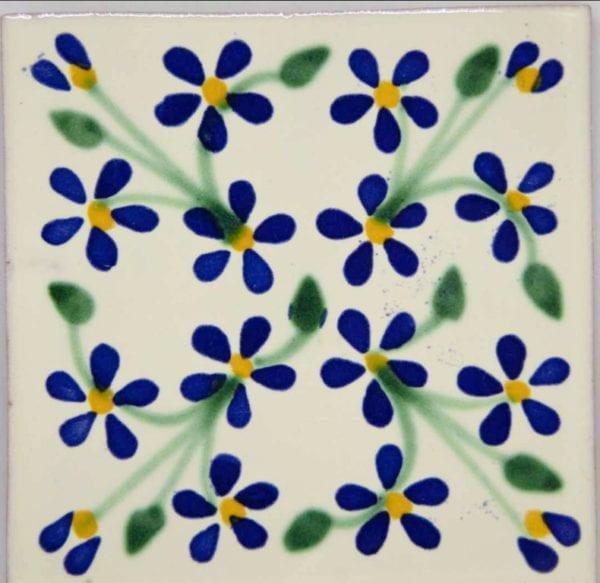 Carrelage mexicain Colibri Azulejos - VIOLETS BLEU