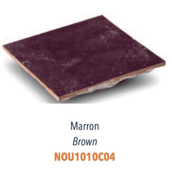 Carreaux Zellige Diffusion Céramique - carrelage marocain artisanal - Couleur MARRON