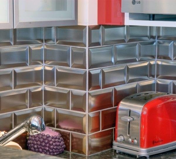 Carrelage cuisine - carreau métro brillant Chrome Diffusion Céramique