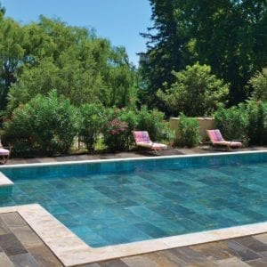 Carrelage piscine Pierre de Bali Zini Ceramiche