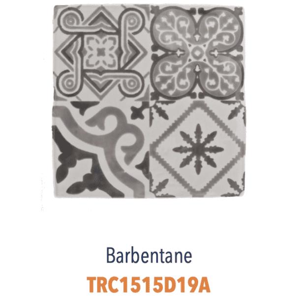 Modèle Barbentane Gris - Carreaux de faïence de Salernes sérigraphiés main - Diffusion Céramique Terracim VIE DE CHATEAU