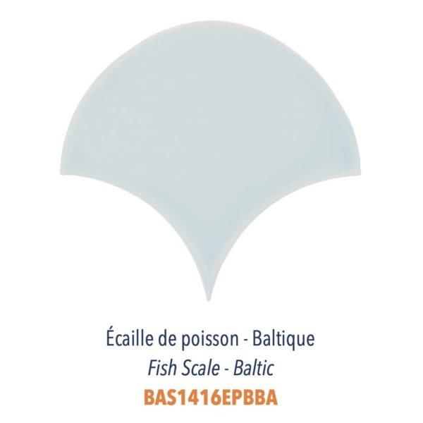 Diffusion Céramique - Carrelage bleu ECAILLES DE POISSON - BALTIQUE