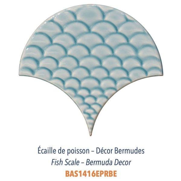 Diffusion Céramique - Carrelage bleu ECAILLES DE POISSON - DECOR BERMUDES