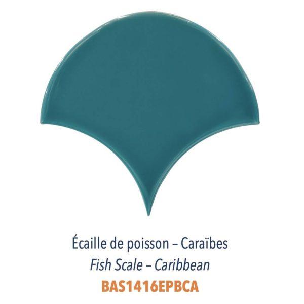 Diffusion Céramique - Carrelage bleu ECAILLES DE POISSON - CARAIBES
