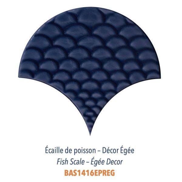 Diffusion Céramique - Carrelage bleu ECAILLES DE POISSON - DECOR EGEE