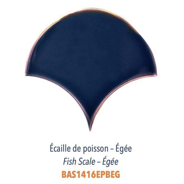 Diffusion Céramique - Carrelage bleu marine ECAILLES DE POISSON - EGEE