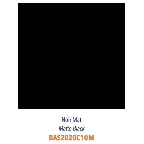 Carrelage couleur brillant ou mat Diffusion Céramique Coin Déco - LES ESSENTIELS - NOIR MAT