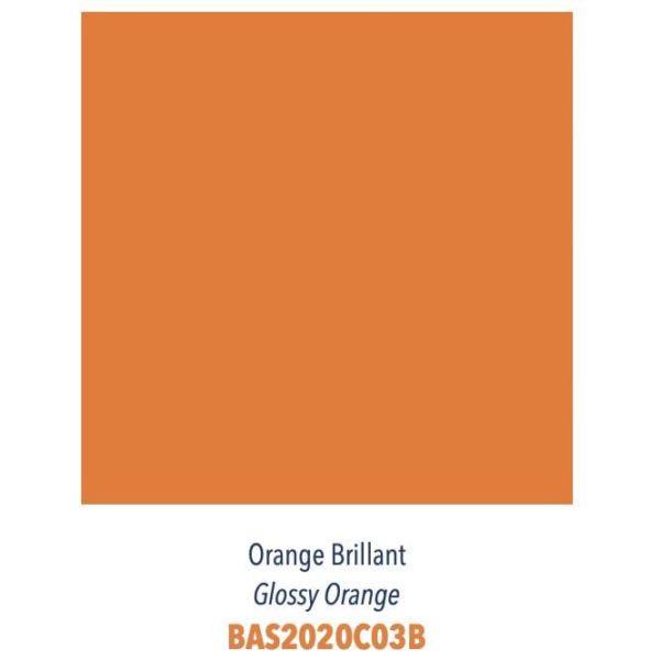 Carrelage couleur brillant ou mat Diffusion Céramique Coin Déco - LES ESSENTIELS - ORANGE BRILLANT