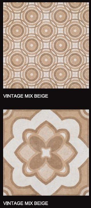 Carreaux imitation ciment Codicer Vintage - ex. motifs MIX BEIGE