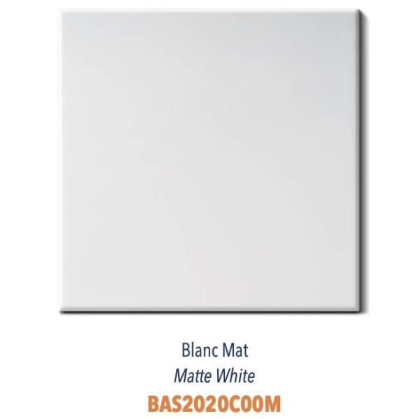 Carrelage couleur brillant ou mat Diffusion Céramique Coin Déco - LES ESSENTIELS - BLANC MAT