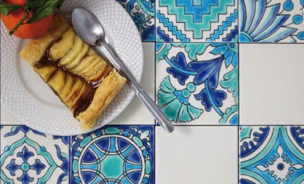 DOREMAIL carrelage patchwork tunisien bleu-vert